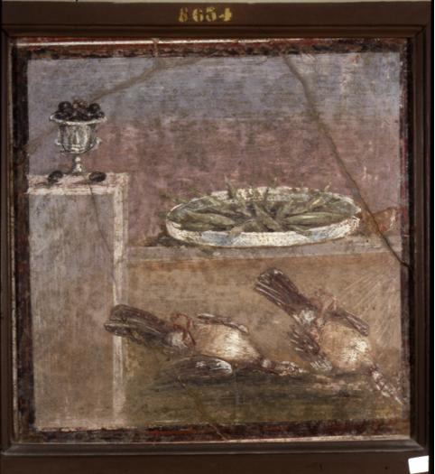 Inv. MANN 8634 – Olive, alici e selvaggina