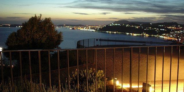 Parco Virgiliano - veduta serale dalla Terrazza